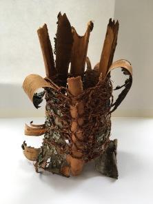 Hair moss cordage and cherry bark