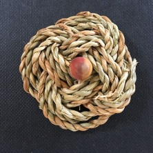 Celtic Knot brooch made from hand made string